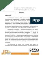 II CONGRESO INTERNACIONAL DE PENSAMIENTO AMERICANISTA