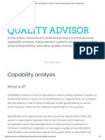 Capabilities Analysis