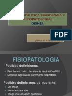 Semiologia de Disnea y Fisiopatología