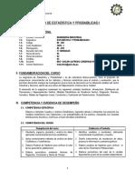 In-402 Estadistica y Probabilidad I