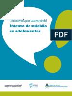Lineamientos Intento Suicidio 2016