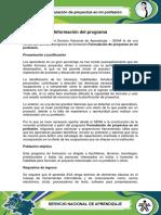 Informacion Formulacion de Proyectos en Mi Profesion