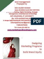 PBM Designingmarketingprogrammetobuildbrandequity