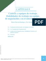 Centros y Equipos de Trabajo (García-Domingo y Sotomayor, 2014)