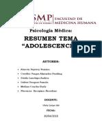 resumen adolescencia