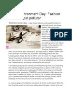fashion is dirtiest pollutor