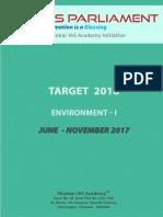 Target 2018 Environment I Www.iasparliament.com