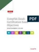 Comptia Cloud Objectives Cv0-001