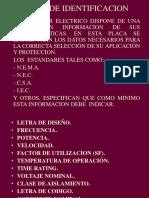 Placa de Identificacion de Motores