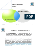 1. Role of Entrepreneur