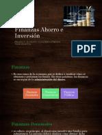 Finanzas Ahorro e Inversión