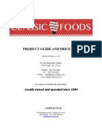 Classic Foods Priceless List