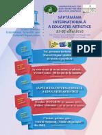 Săptămâna Internaţională a Educaţiei Artistice 21-27 mai 2018
