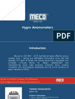Hygro Anemometers Mecoinst