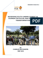 Reviewing Youth Unemployment in Uganda for Social and Economic Transformation by Charles Natuhamya