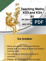 TEACHING KS3 AND KS4 MATHS