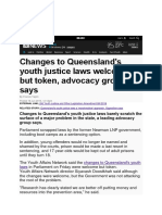 changes to queensland youth justice news article