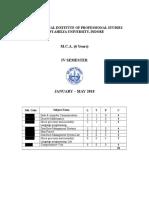 MCA IV Syllabus