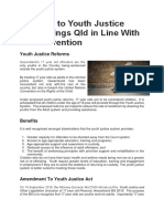 reforms to youth justice laws brings qld in line with un convention