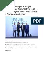 Bosch Develops a Single Platform for Automotive Test Data Analysis and Visualization