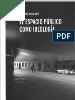 Delgado, Manuel_Espacio Público Como Ideología