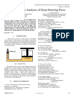 Finite Element Analysis of Deep Drawing Press