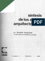 Sintesis de Los Estilos Arquitectonicos_Arnaldo Puig Grau