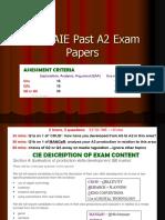 CIE A2 past exam Qs