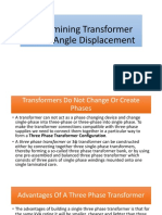 Determining Transformer Phase Angle Displacement