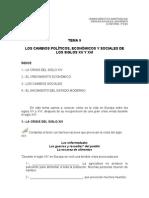 TEMA 9-LOS CAMBIOS POLÍTICOS, ECONÓMICOS Y SOCIALES DE LOS SIGLOS XV Y XVI