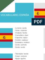 Vocabulario España