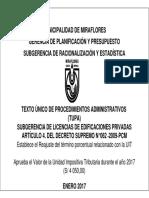 TUPA Licencias Edificaciones 2017 Miraflores