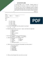 Questionnaire Sunilkumar