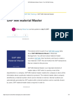 1.1.1.SAP MM Material Master Tutorial - Free SAP MM Training