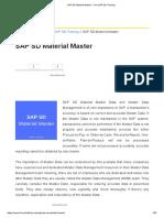 1.1.2.SAP SD Material Master - Free SAP SD Training