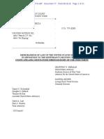 U.S. v. Ho (DOJ Response Brief)