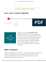 1.5.SAP Work Center Capacity Tutorial - Free SAP PP Training