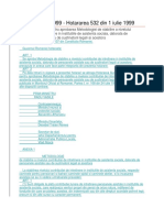 Hotarare 532- 1999 Metodologie de Calcul Al Contributiei