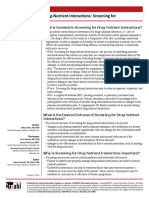Drug-Nutrient Interaction Screening DPS