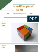 elements and principles of 3d art