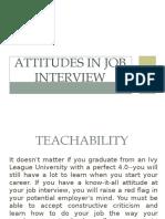 Attitudes in Job Interview