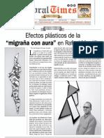 """Doral Times Efectos plásticos de la """"migraña con aura"""" en Rafael Montilla"""