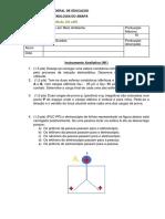 Prova Carga - Lei de Coulomb e Campo - MAB3A