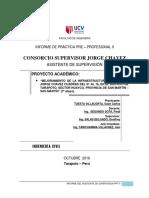 Informe Mensual Nº 01 Informe de obra civil, ingenieria civil