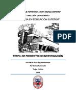 Perfil de Proyecto de Investigación