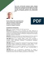 Curriculum Lic. Manlio Fabio Jurado Hernandez