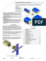 Payload Specification for CubeSat's
