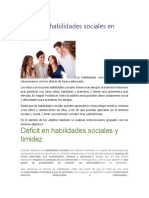 Déficit en Habilidades Sociales en Adultos