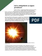 Közeli Szupernóva Sütögethette Az Éppen Kialakuló Naprendszert