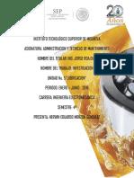 Investigacion,Lubricantes  Mecanicos-Administracion y Tecnicas de Mantenimiento